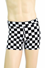 "Mens ""Rio"" Shorts in Check Print - Coquetry Clothing"