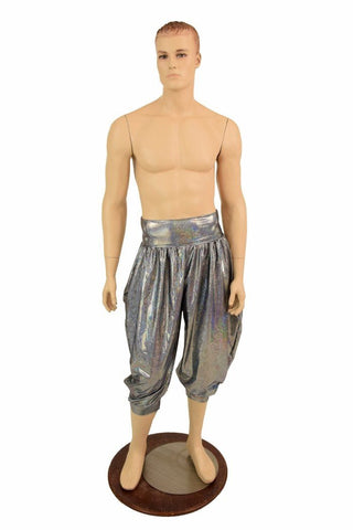 """Michael"" Pants in Silver Holo - Coquetry Clothing"