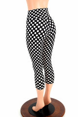 Polka Dot High Waist Capri Leggings - Coquetry Clothing