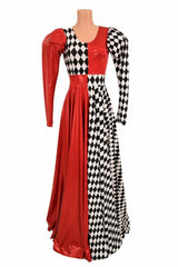 """""""Queen of Cards"""" Split Circle Cut Gown - Coquetry Clothing"""