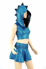 Aquamarine Dragon Hoodie Set - Coquetry Clothing
