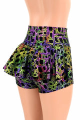 Poisonous Print Ruffle Rump Shorts - Coquetry Clothing