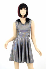 Silver Hoodie Skater Dress - Coquetry Clothing