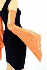 Orange Pixie Arm Warmer Sleeves - Coquetry Clothing