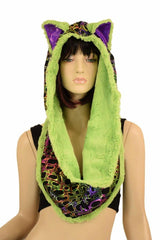 Poisonous Reversible Infinity Festival Hood - Coquetry Clothing