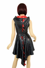 Black Dragon Hoodie Skater Dress - Coquetry Clothing