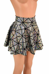 Cracked Tile Rave Mini Skirt - Coquetry Clothing