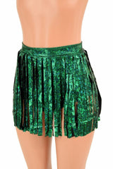 Siren Gladiator Shorts in Green Shattered Glass - Coquetry Clothing