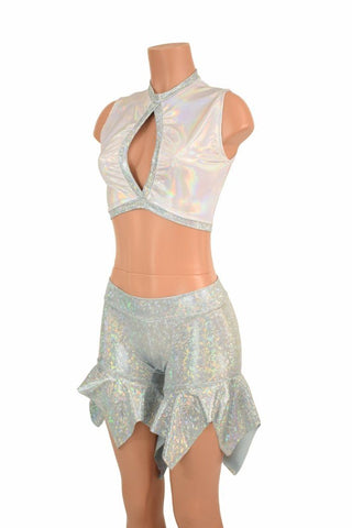 2PC Keyhole Top and Pixie Shorts Set - Coquetry Clothing