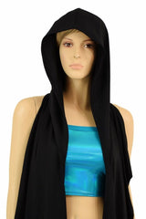 Black Zen Hooded Racerback Duster - Coquetry Clothing