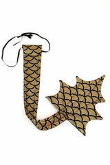 Gold Scale Wireless Dragon Tail - Coquetry Clothing