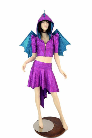 2PC Purple Dragon Set (+Dragon Wings!) - Coquetry Clothing
