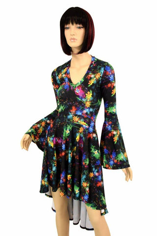 Gothic Garden Hi Lo Skater Dress - Coquetry Clothing