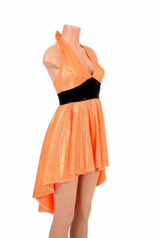 "Hi Lo ""Halloween"" Halter Dress - Coquetry Clothing"