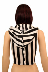 Zebra Zipper Front Crop Top - Coquetry Clothing
