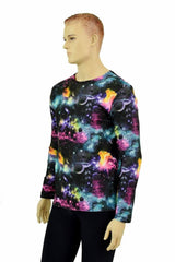 Mens Long Sleeve Galaxy Shirt - Coquetry Clothing