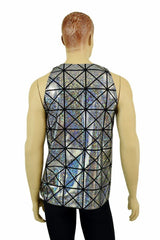 Mens Cracked Tile Muscle Tank - Coquetry Clothing
