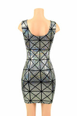 Cracked Tile Holographic Tank dress - Coquetry Clothing