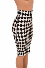 "27"" Diamond Print Pencil Skirt - Coquetry Clothing"