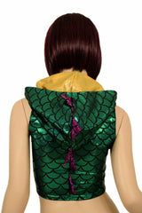 Mardi Gras Sleeveless Dragon Crop - Coquetry Clothing