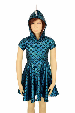 Kids Dragon Hoodie Skater Dress - Coquetry Clothing