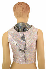Pink Dragon Zipper Front Crop Top - Coquetry Clothing