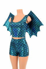 High Waist Shorts & Top (+Dragon Wings!) - Coquetry Clothing