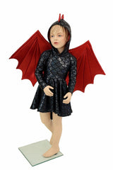 Kids Dragon Tail Skater Dress (+Dragon Wings!) - Coquetry Clothing