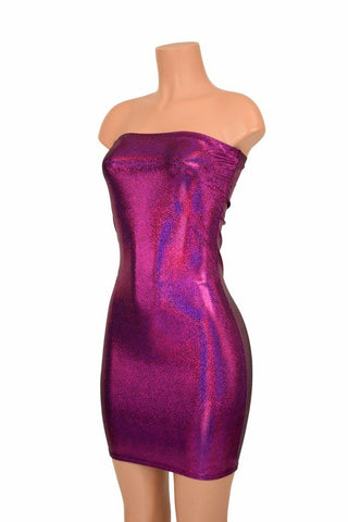 Strapless Fuchsia Tube Dress - Coquetry Clothing