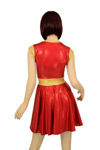 a9cc85a1 ... Red & Gold Skater Dress - Coquetry Clothing ...