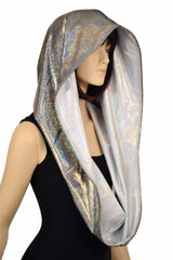 Silver & Flashbulb HUGE Reversible Festival Hood - Coquetry Clothing