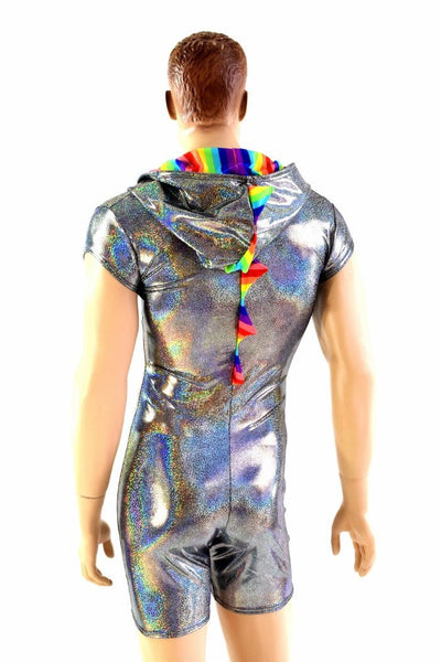 Mens Silver Amp Rainbow Dragon Romper Coquetry Clothing
