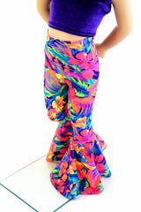Kids Tahitian Floral Bell Bottoms - Coquetry Clothing