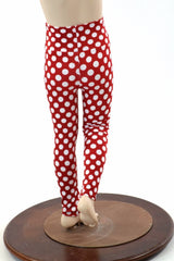 Kids Red & White Polka Dot Leggings