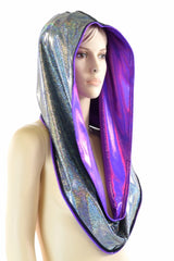 Grape & Silver Reversible Infinity Festival Hood
