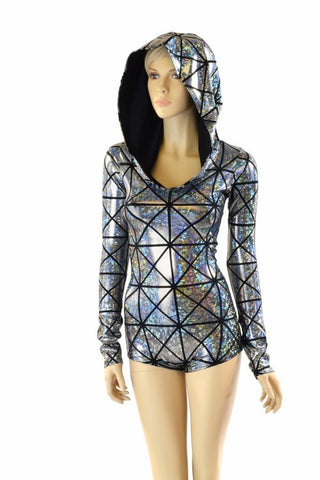 Long Sleeve Hoodie Romper - Coquetry Clothing