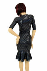 Black Mermaid Wiggle Dress - Coquetry Clothing
