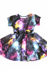Girls Galaxy Skater Dress - Coquetry Clothing