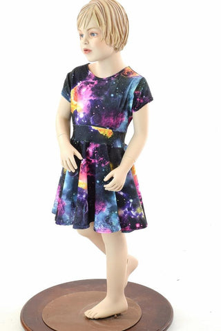 Girls Galaxy Skater Dress