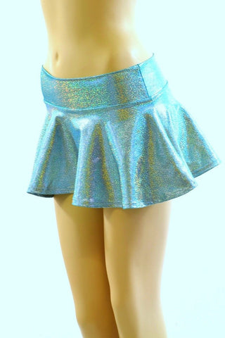 Seafoam Mini Rave Skirt - Coquetry Clothing