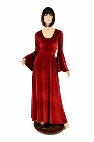 Velvet Renaissance Gown - Coquetry Clothing