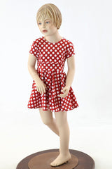 Girls Minnie Skater Dress - Coquetry Clothing