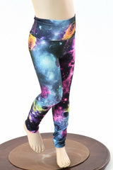 Kids UV Glow Galaxy Leggings