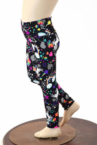 Kids Unicorns & Rainbows Leggings - Coquetry Clothing