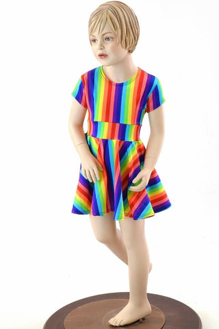 Girls Rainbow Skater Dress