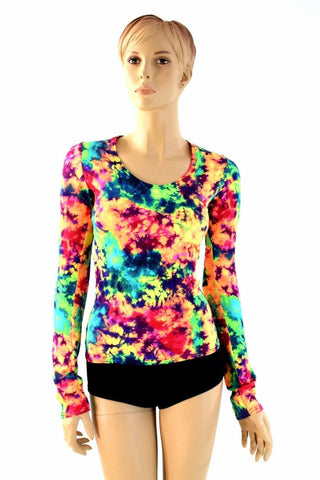Acid Splash Long Sleeve Top - Coquetry Clothing