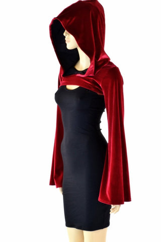 Little Red Riding Hood Velvet Bolero - Coquetry Clothing