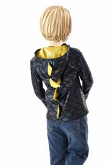 Childrens Black & Gold Dragon Hoodie - Coquetry Clothing