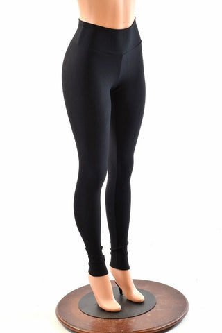 Black Soft Knit High Waist Leggings
