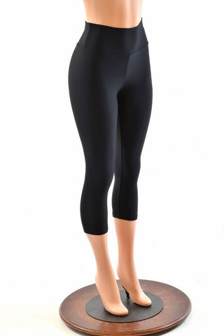 High Waist Capri Length Leggings - Coquetry Clothing